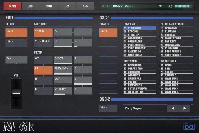 UVI OB Legacy M 6K