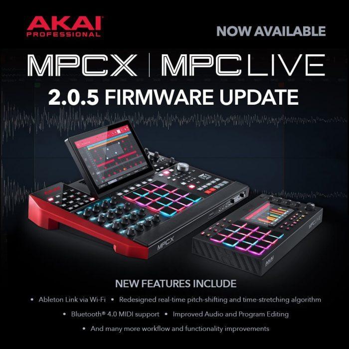 AKAI Pro MPC firmware 205 update