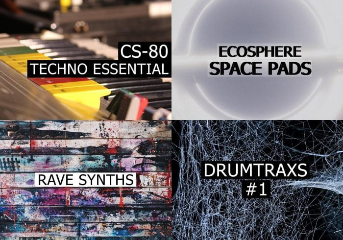 Audio Strasse CS 80 Techno Essential Rave Synths Ecosphere Drumtraxs