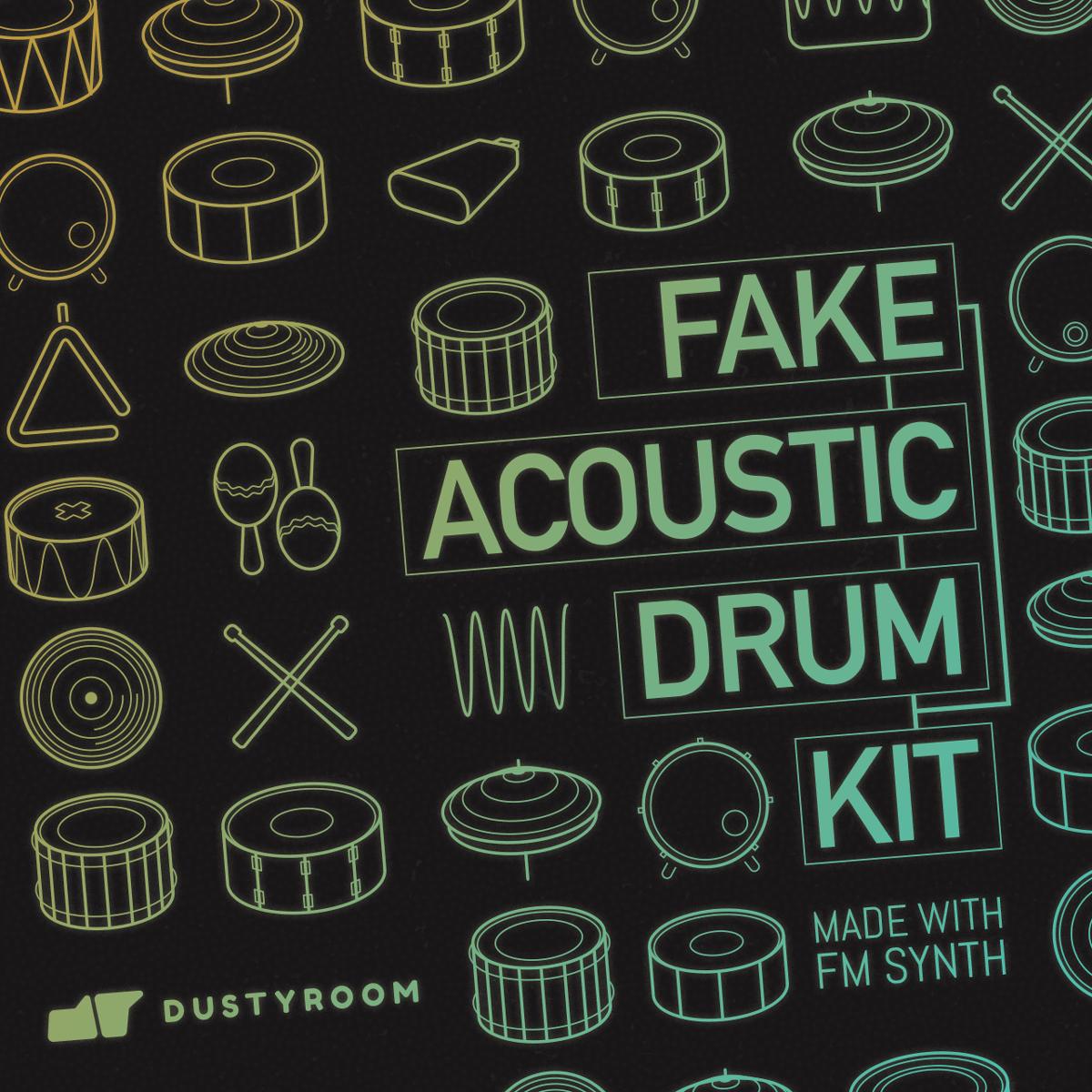 Dustyroom Fake Acoustic Drum Kit