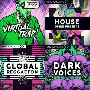 Function Loops Global Reggaeton, House Spire, Dark Voices & Virtual Trap