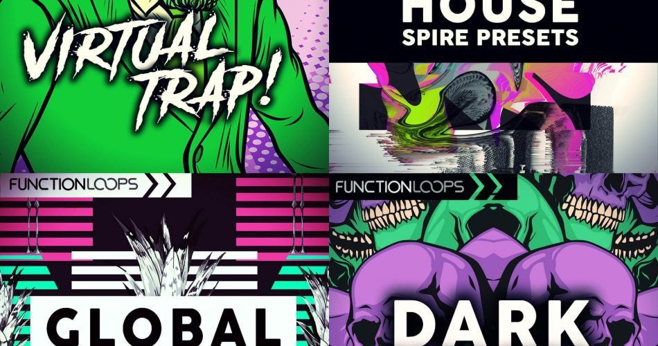 Function Loops Global Reggaeton, House Spire, Dark Voices & Virtual Trap