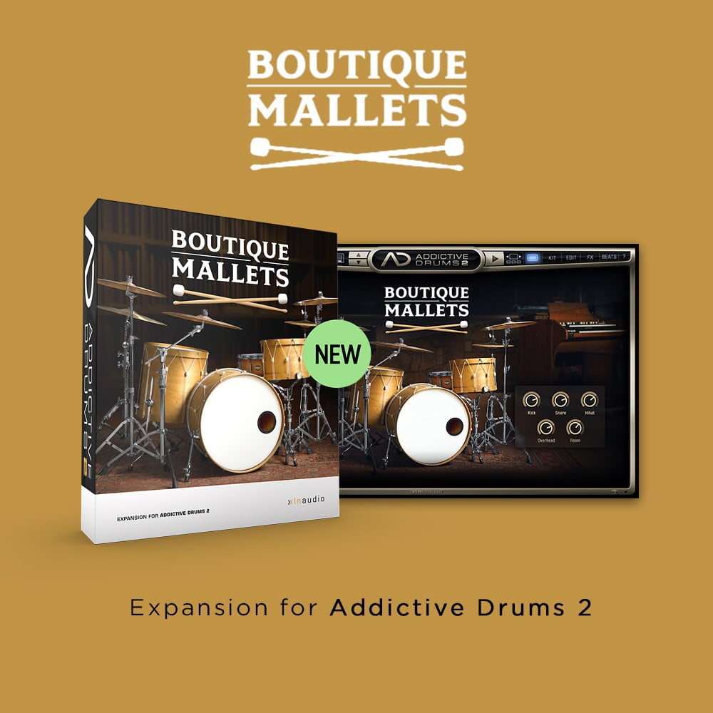 boutique mallets adpak for xln audio addictive drums 2 released. Black Bedroom Furniture Sets. Home Design Ideas