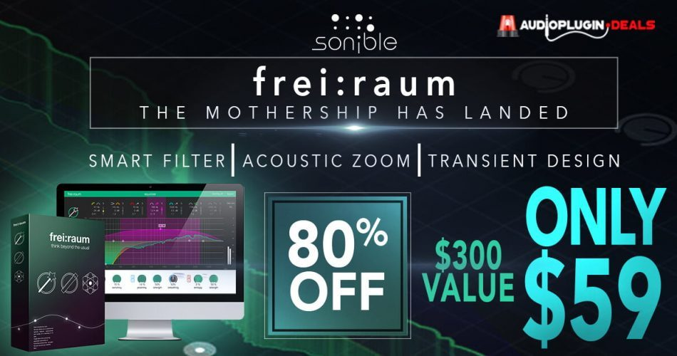 Audio Plugin Deals Sonible freiraum sale