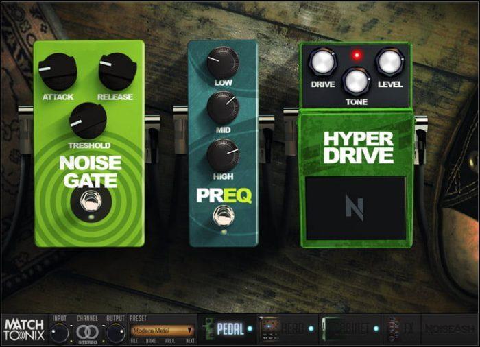 NoiseAsh Match Tonix Dark Wolf pedals