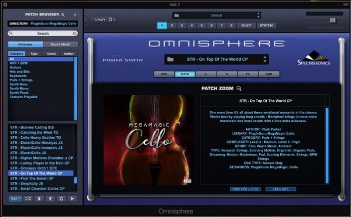 PlugInGuru MegaMagic Cello Omnisphere
