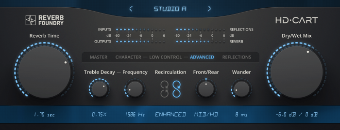 hd cart reverb plugin vst au aax by reverb foundry released. Black Bedroom Furniture Sets. Home Design Ideas