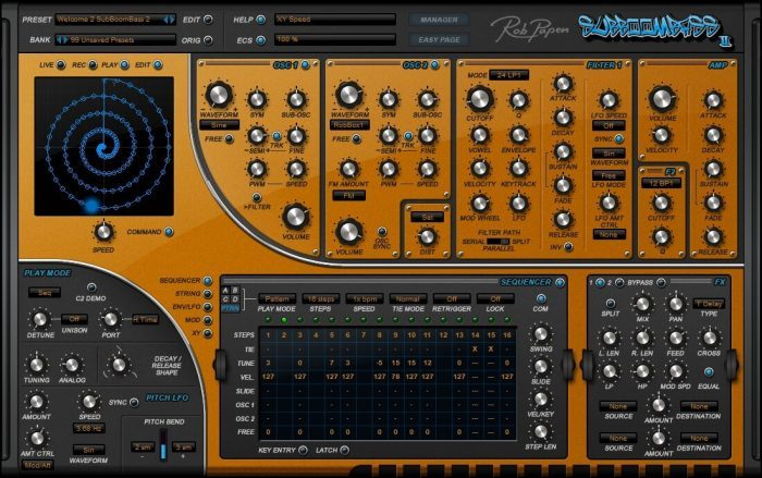 Rob Papen SubBoomBass 2 screen