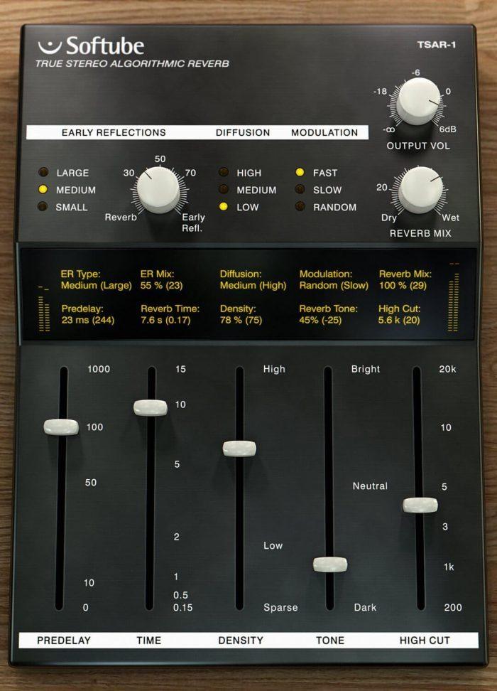 Softube TSAR 1 Reverb
