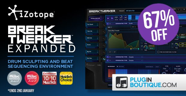 iZotope BreakTweaker Expanded sale 67