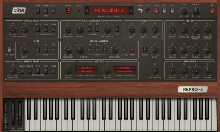 u-he Repro 5 synth