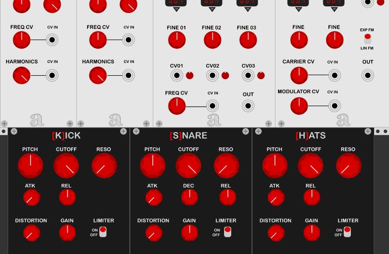 Autodafe REDs for VCV Rack