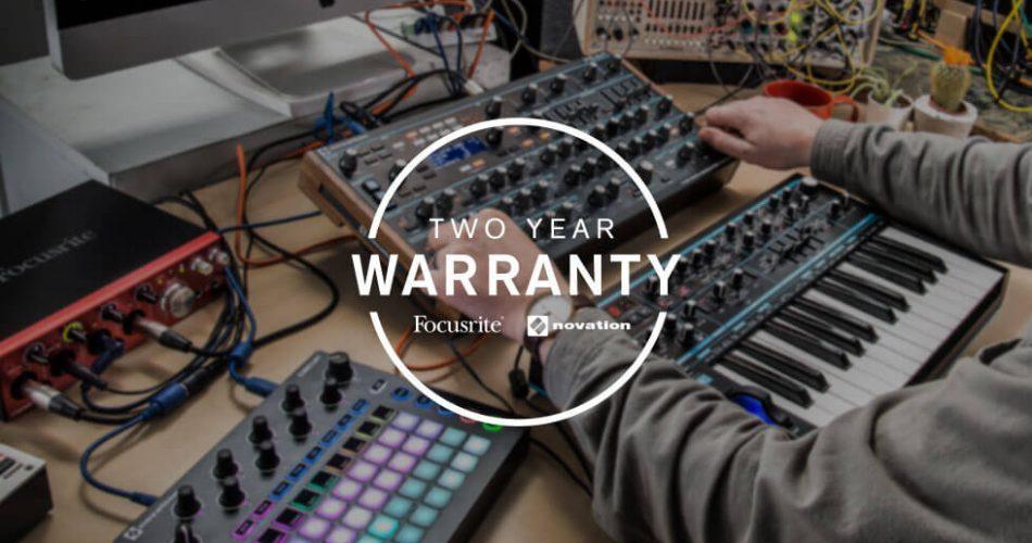 Focusrite Novation 2 year warranty