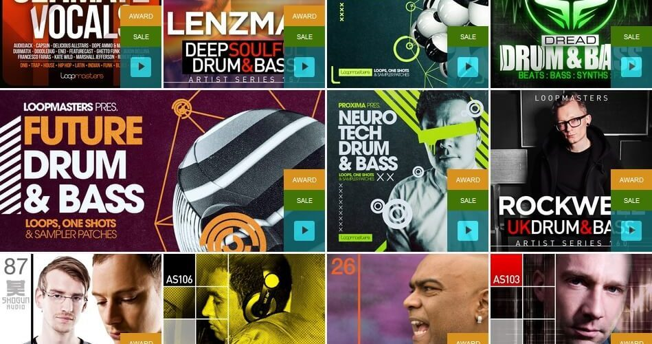 Loopmasters Xmas Flash Genre Sale Drum and Bass feat