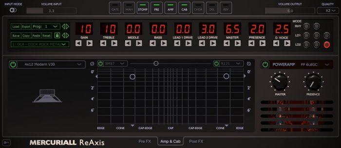 Mercuriall Audio ReAxis amp cab