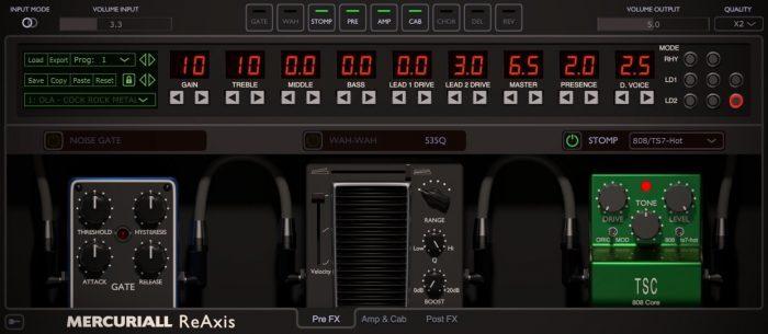 Mercuriall Audio ReAxis screen