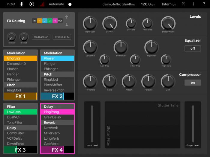 MoMinstruments Elastic FX screen