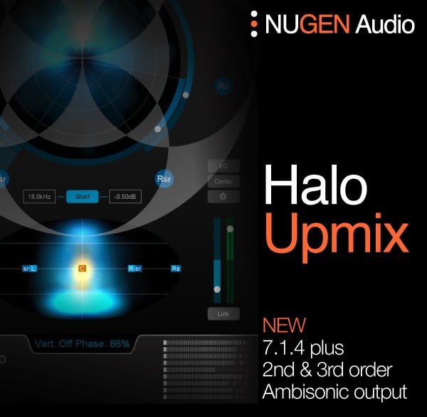NUGEN Audio Halo Upmix 3D Immersive Extension update