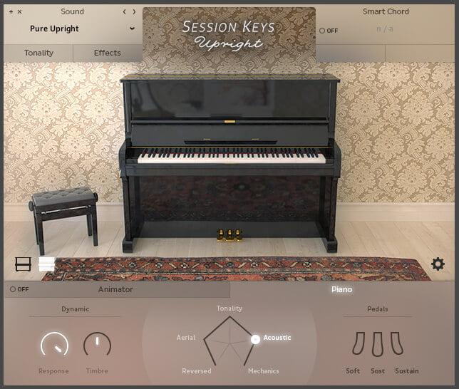 e instruments SessionKeysUpright Close