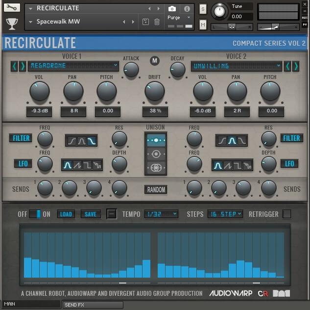 AudioWarp Recirculate