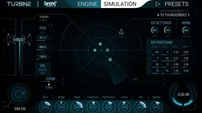 BOOM Library Turbine Simulation