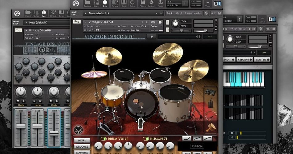 Kontakt Player Dual Kit Pack   The Vintage Funk & Disco Kits feat