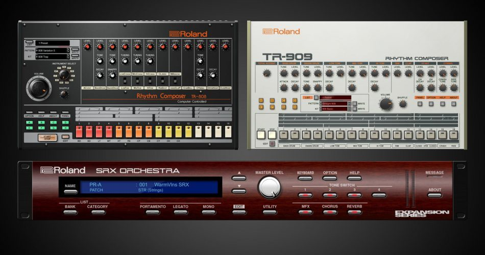 Roland Cloud TR 808 TR 909 SRX