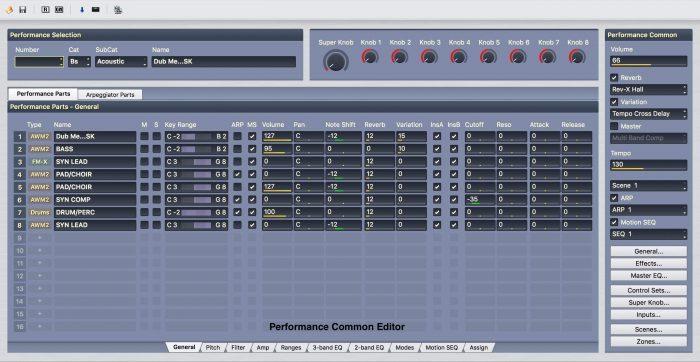 Yamaha Montage Performance Editor