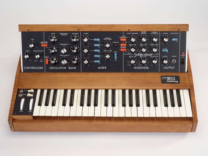Bob Moog Foundation Vintage Minimoog signed by Rick Wakeman