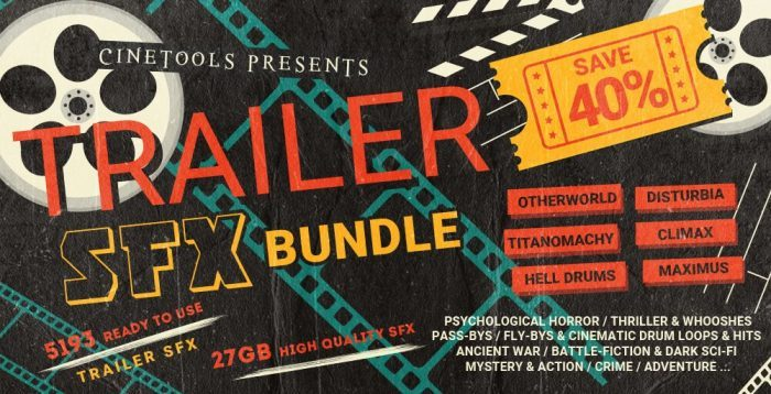 Cinetools Trailer SFX Bundle
