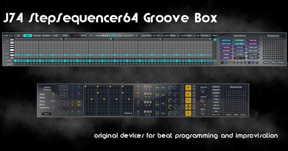 J74 StepSequencer64 Groove Box