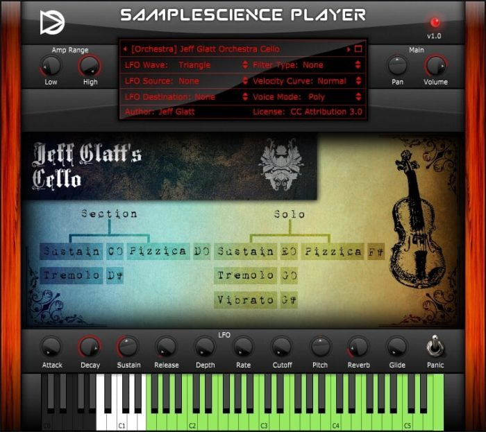 SampleScience Player v1 Glatt Cello