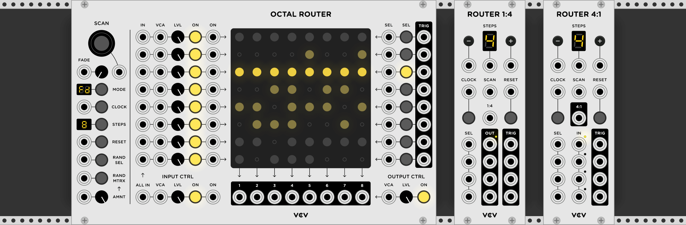 router sequential switch matrix for vcv rack released