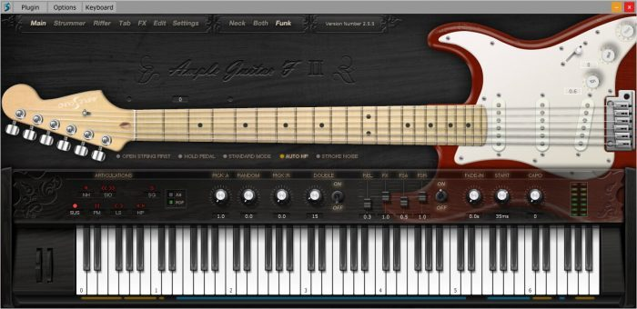 Ample Sound AGF Funk Extension GUI