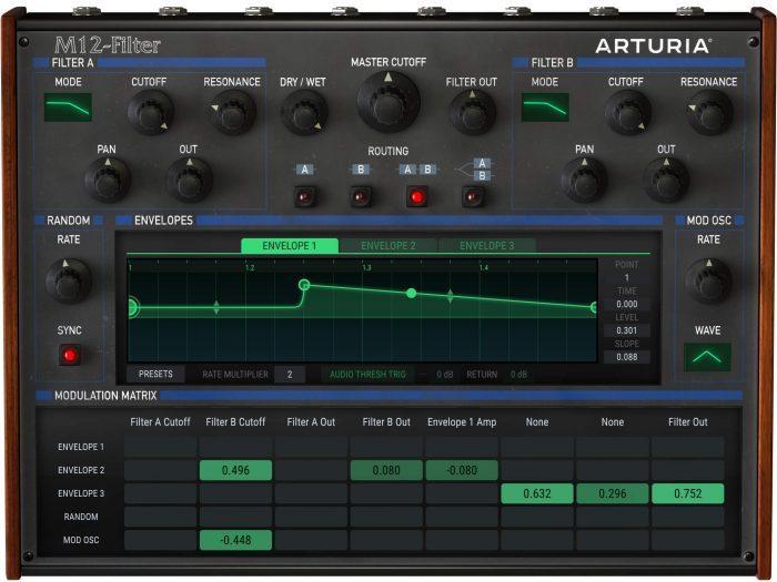 Arturia M12 Filter