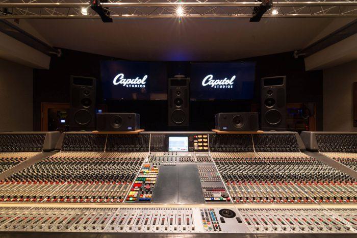 Capitol Studios Studio C mixing room
