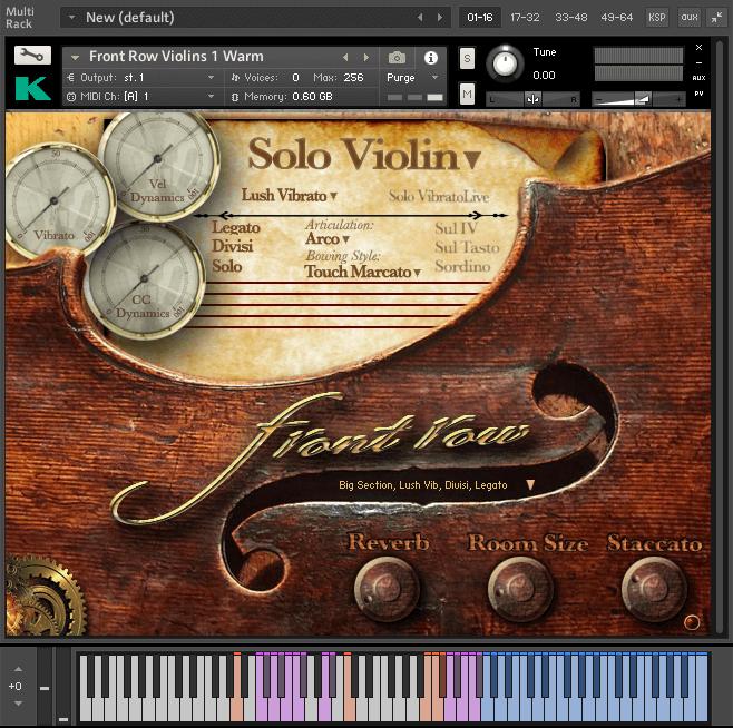 Kirk Hunter Studios Front Row Violins GUI