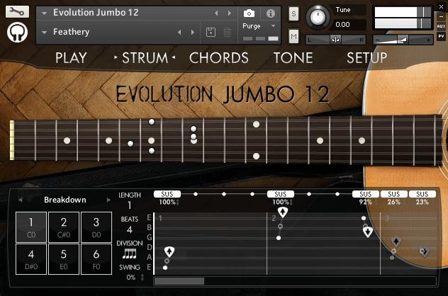 Orange Tree Samples Evolution Jumbo 12 strum