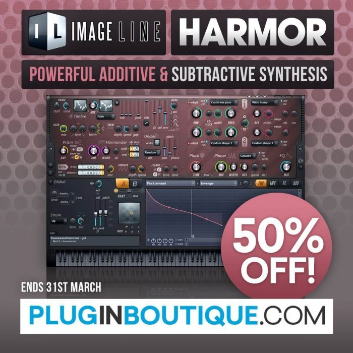 Plugin Boutique Harmor 50 off sale