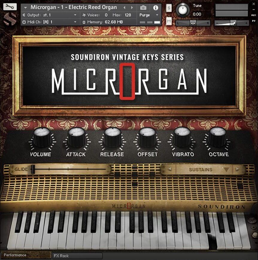 Soundiron releases microrgan reed organ for kontakt for Classic house organ sound