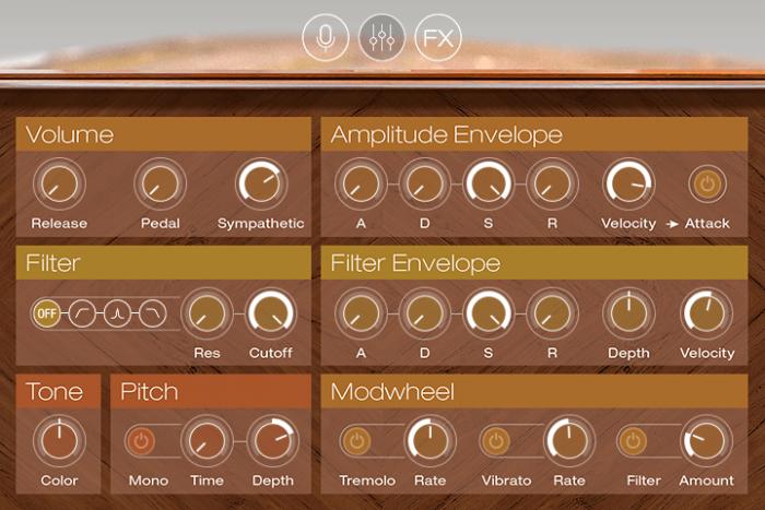 UVI Augmented Piano screen edit