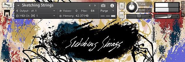 VST Buzz Sketching Strings GUI