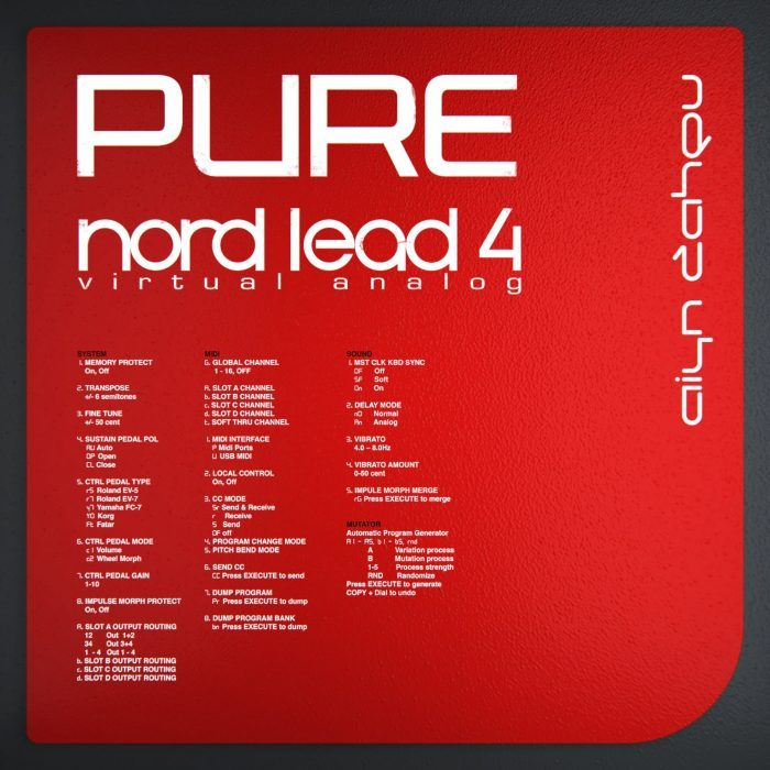 Aiyn Zahev PURE Nord Lead 4 Patches