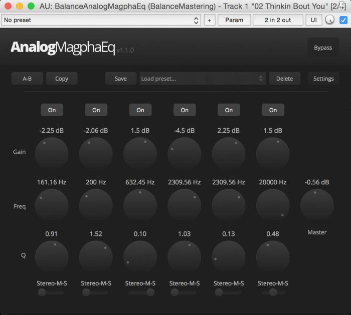 Balance Mastering Analog Magpha EQ 1.1.0
