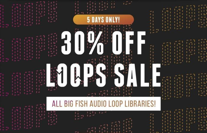 Big Fish Audio 30 off Loops Sale