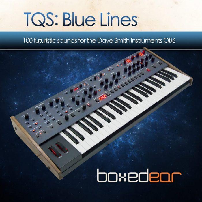 Boxed EAR TQS Blue Lines artwork