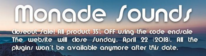 Monade Sounds Closing Sale