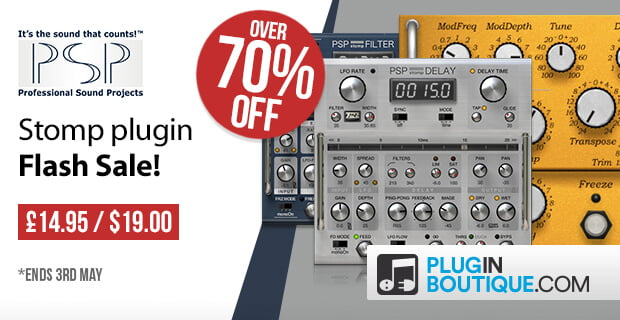 PSP PianoVerb2, stompDelay & stompFilter plugins over 70% OFF