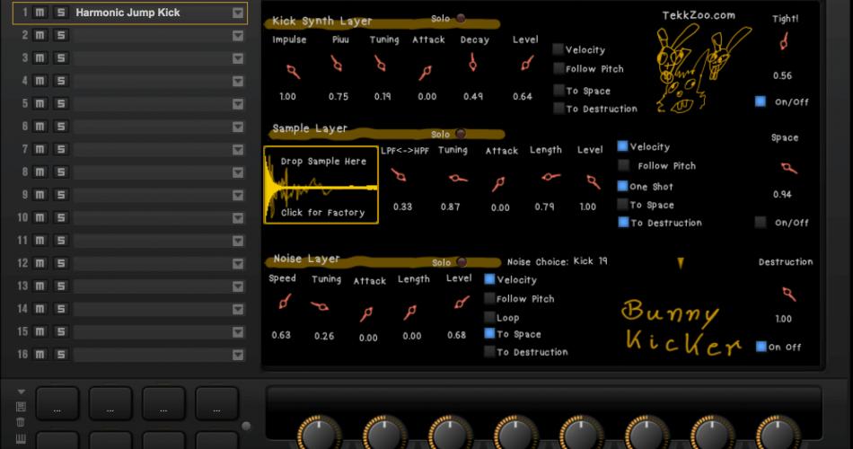 TekkZoo Instruments Bunny Kicker