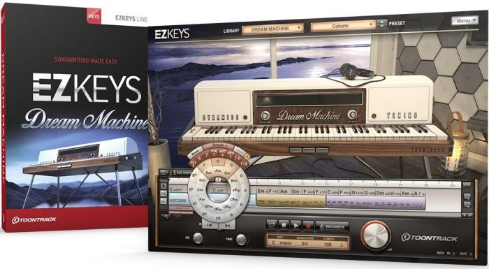 Toontrack EZkeys Dream Machine screen